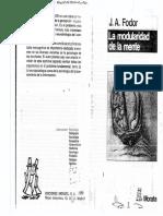 Fodor, A. j. La Modularidad de La Mente (21-59)