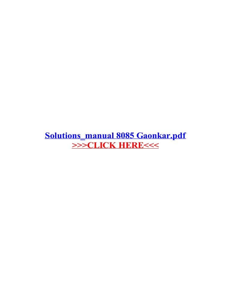 Solutions manual 8085 gaonkar microprocessor portable document solutions manual 8085 gaonkar microprocessor portable document format fandeluxe Images