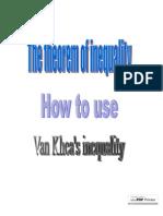 Van Khea's Inequality