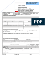 Form for Minor and Low Incident Investigation