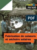 Fabrication de Cuiseurs Et de Séchoirs Solaires