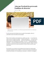 Estudios Revelan Que Facebook Ha Provocado 28 Millones de Divorcios