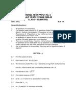 11 Mathematics Mixed Test 02
