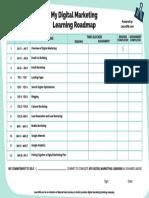 My Digital Marketing Learning Roadmap-final