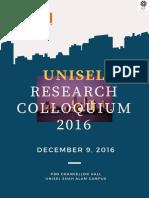 Unisel Research Colloquium2016