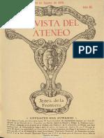 Revista Del Ateneo (Jerez de La Frontera). 15-8-1926, n.º 25