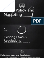 Major Pricing Issues on Public Policy and Marketing