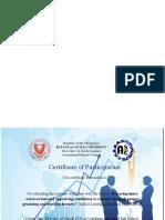 Certificate Big
