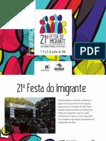 MUSEU DA IMIGRACAO 21 Festa Do Imigrante Programacao Versao Digital 5