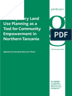Participatory Land Use Planing as a Tool for Cummunity Development