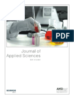 Journal of applied science