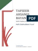 Tafseer Ahsanul Bayan (Roman Urdu) incomplete