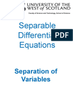 Separation of Variables PowerPoint