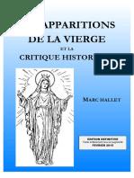 Les Apparitions de La Vierge Et La Critique Historique - 2015