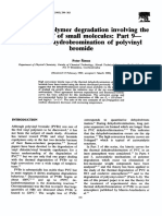 Kinetics of Polymer Degradation Involving the Splitting Off of Small Molecules Part 9 Thermal Dehydrobromination of Polyvinyl Bromide 1993 Polymer Degradation and Stability