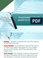 Examination of Soft Palate & Hard Palate