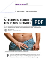 5 Lesiones Asociadas a Los Penes Grandes