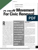 2005 - Putnam - A New Movememt for Civic Renewal