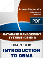DBMS Chapter 1 DBMS Chapter 1 Introduction to DBMS I Slids