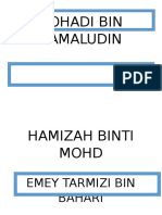 Nama Carta Organisasi