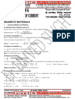 Theory of Magnetism, Magnetic Effect of Current for Iit Pmt