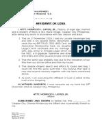Affidavit of Loss - Globe.docx