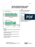 Genetic Codes With No Dedicated Stop Codon Context Dependent Translation Termination