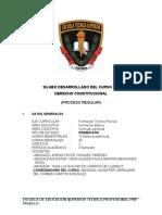 Desarrollo de Silabo de Derecho Constitucional Para Ets Trujillo