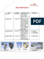 Syllabus Ansys Mechanical