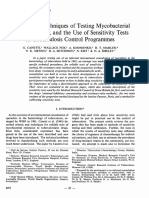 Advances in Techniques of Testing Mycobacterial Drug Sensitivity, And the Use of Sensitivity Test in Tuberculosis Control Programs
