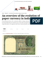 An Overview of the Evolution of Paper Currency in India _ the Indian Express