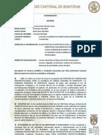 Informe Coordinación Mayo y Junio 2010