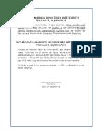 Declaración Jurada de No Tener Antecedentes Policiales