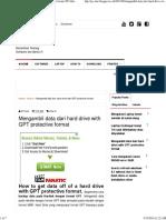 Backup Data Dari Harddisk Format Partisi GPT