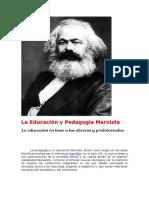 La Educación y Pedagogía Marxista