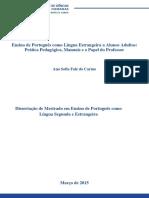 Dissertação de Mestrado - Ana Sofia Carmo - EPLE a Alunos Adultos, o Manual e o Papel do Professor