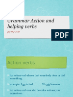 Action Verbs and Helping Verbs