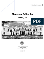 Monetary Policy (in English)--2016-17 (Full Text)