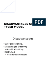 Disadvantages of Tyler Model and How to Implement