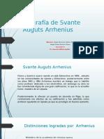 Biografía de Svante Auguts Arrhenius