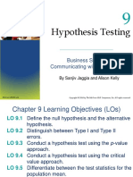 Testing of Hypothesis_one Sample
