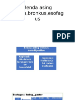 Benda Asing Trakea,Bronkus,Esofagus Pptx