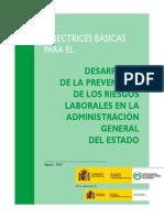 Directrices Basicas Desarrollo PRL en AGE