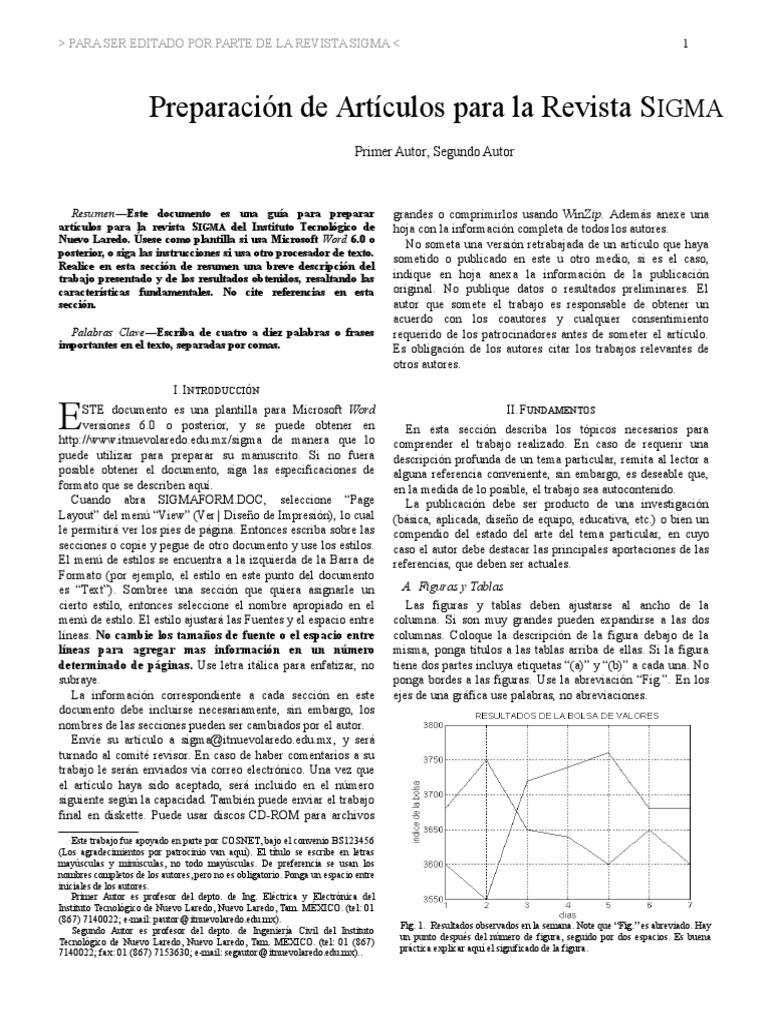 Formato de Revista Sigma