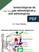 4. Bases Farmacol¢gicas de las drogas AdrenÇrgicas