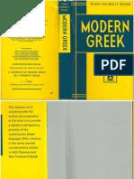 Modern Greek, Teach Yourself (Sofroniou)