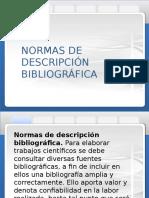 normas de descripción bibliográfica