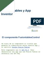 Fusion Tables y App Inventor
