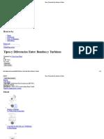 Tipos y Diferencias Entre Bombas y Turbinas