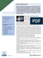 Fiche Information ISO9001 2015